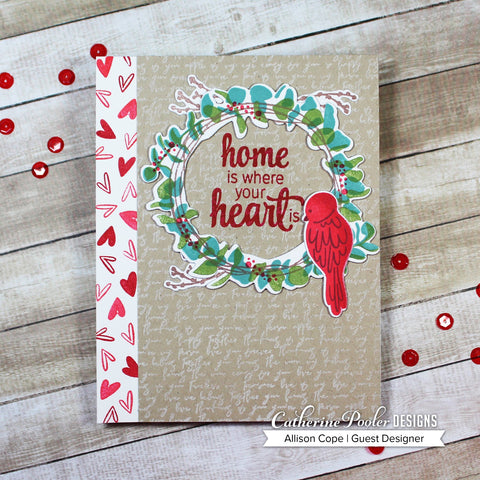 Catherine Pooler - Sweet Home Wreath Stamp Set