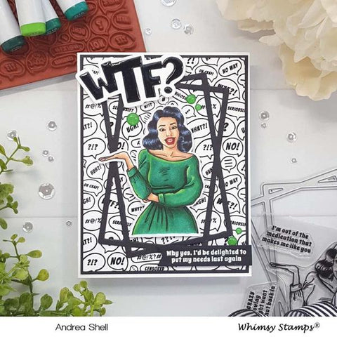 Whimsy Stamps - Background Rubber Cling Stamp