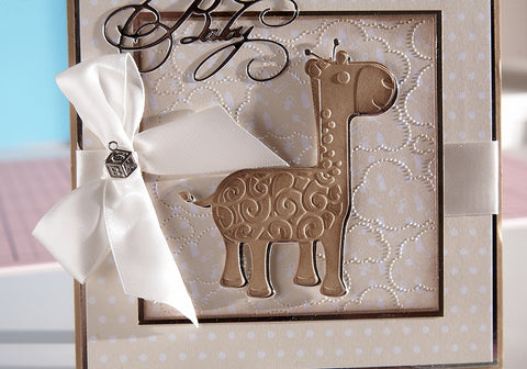 Crafters Companion - Sara Signature Little Angel - Ribbon - Simply White