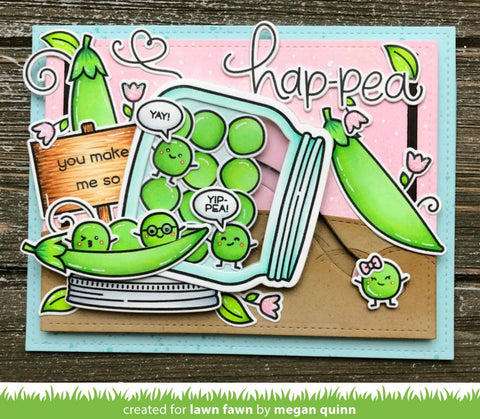 Lawn Fawn - Be Hap-pea Stamp and Die