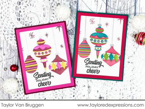 Taylored Expressions - Beautiful Baubles Layering Stencil