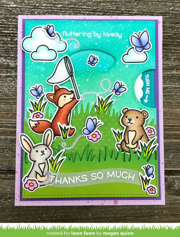 Lawn Fawn - butterfly kisses Stamp and Die