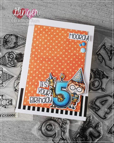C.C. Designs - Birthday Candles Clear Stamp and Outline Metal Die