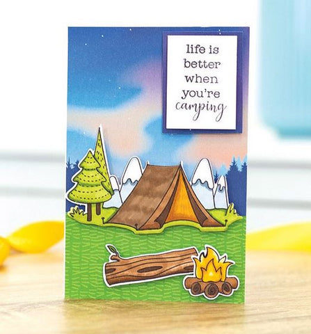 Crafters Companion Gemini Staycation Happy Camper Stamp and Die