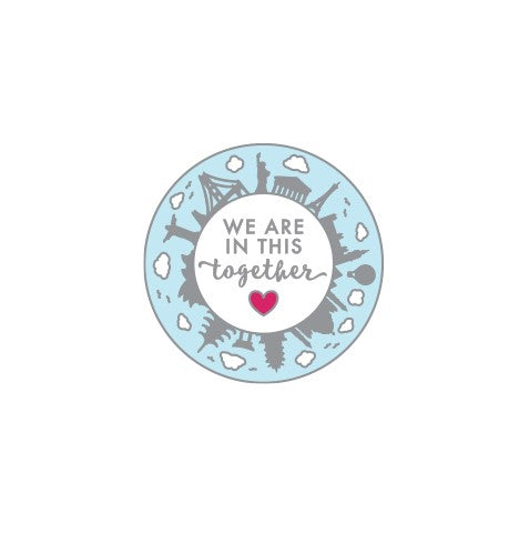 We are in This Together World Enamel Pin