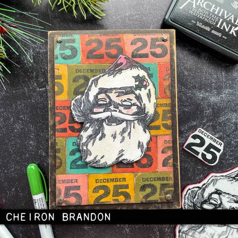 Stampers Anonymous - Tim Holtz - Jolly Santa Cling Mounted Rubber Stamps