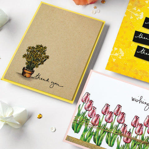 Hero Arts -  From The Vault Flowers Stamp and Die Sets