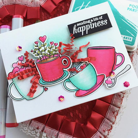 Hero Arts - Cup of Love Stamps and Dies