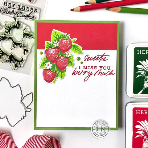 Hero Arts - Color Layering Strawberry Stamps