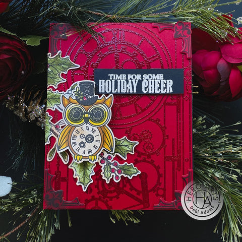 Hero Arts - Steampunk Holiday Stamps