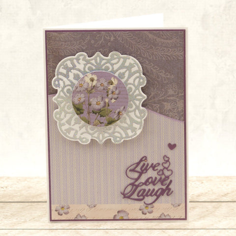 Couture Creations  - Cut, Foil & Emboss Die - Butterfly Garden - Garden Background