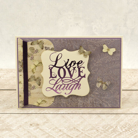 Couture Creations - Butterfly Garden - Hot Foil Stamp - Live, Laugh, Love