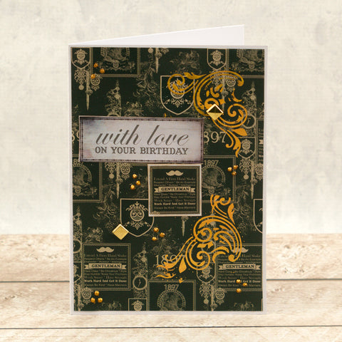 Couture Creations - Mini Hotfoil Stamp - Gentlemans Emporium - Acanthus Corner