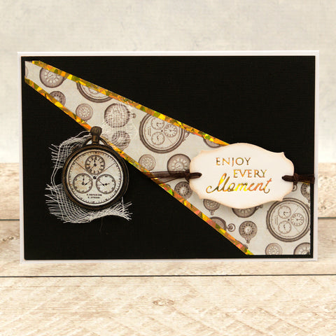 Couture Creations  - Hotfoil Stamp - Gentlemans Emporium - Small Sentiments Collection Set (4pc)