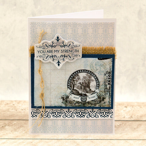 Couture Creations  - Hotfoil Stamp - Gentlemans Emporium - Border Collection Set
