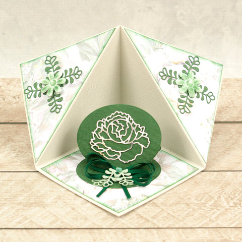Couture Creations - Peaceful Peonies - Mini Die - Cornered Leaves 3 (2pc)