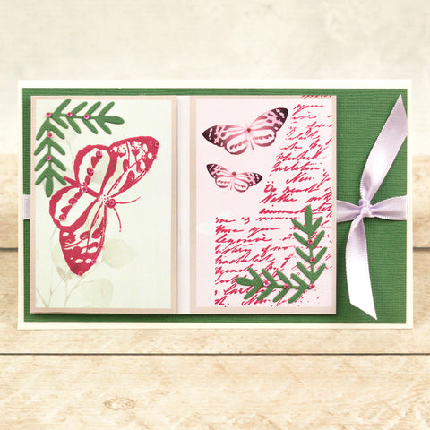 Couture Creations - Peaceful Peonies - Mini Die - Cornered Leaves (2pc)