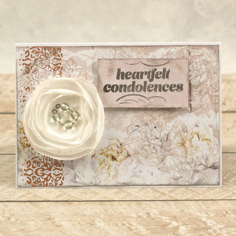 Couture Creations - Peaceful Peonies - Hotfoil Stamp - Lacey Border