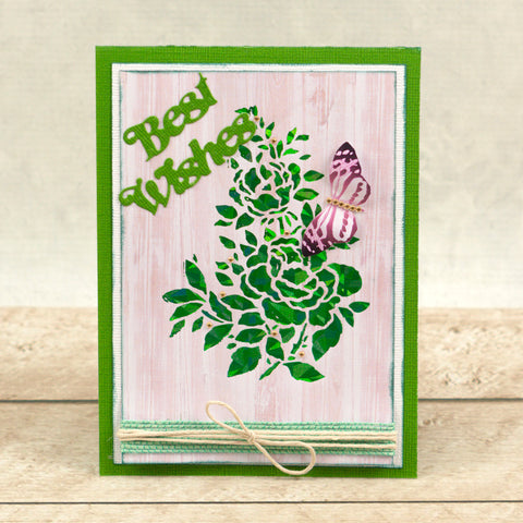 Couture Creations  Peaceful Peonies - Hotfoil Stamp - Peony Bouquet