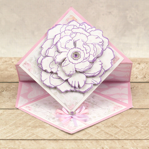 Couture Creations - Peaceful Peonies - Stamp & Die Set - Large Peony (4pc)