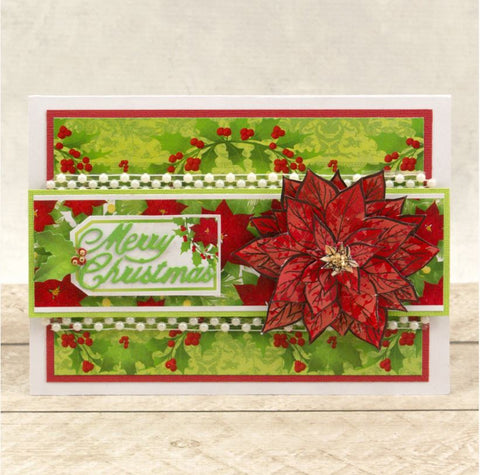 Couture Creations - The Gift of Giving Collection - Stamp & Die Set - Layered Poinsettia (5pc)