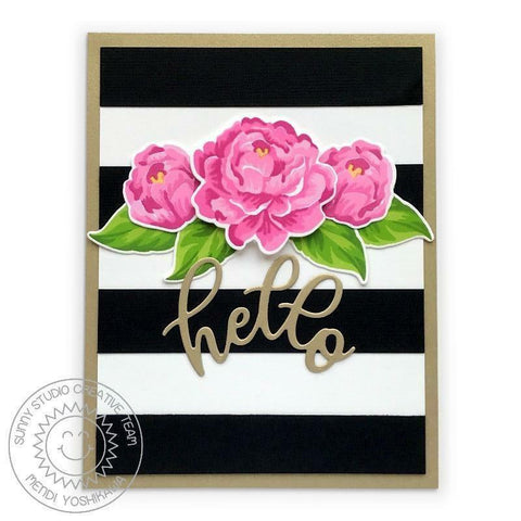 Sunny Studio Stamps -  Captivating Camellias Stamps and Dies