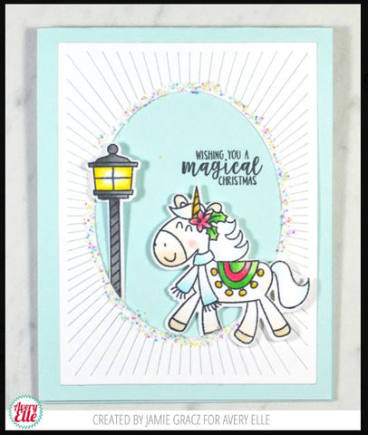 Avery Elle Christmas Magic Clear Stamps and Die
