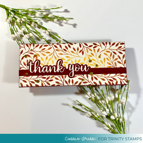 Trinity Stamps - Scripty Thanks Stand-Alone Die Set