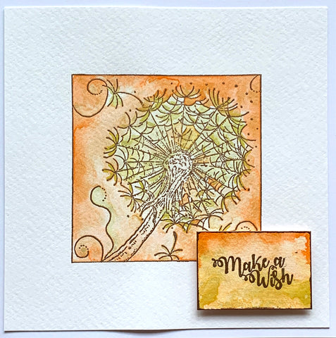 IndigoBlu - Colour Me Dandelion Red Rubber Stamp A6 by Janine Gerard Shaw