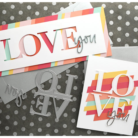 Concord & 9th - All the Love Stamp and Die Set