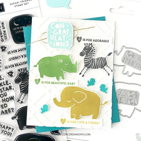 Concord & 9th - Safari Friends Stamp and Die Set
