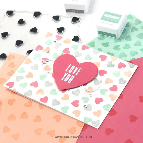 Concord & 9th - Scattered Hearts Turnabout™ Stamp