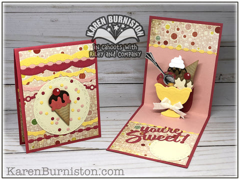 karen Burniston - Ice Cream Sundae Pop-up Die Set