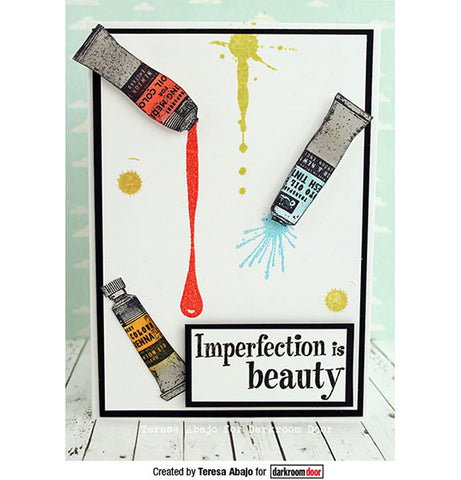 Darkroom Door Eclectic Stamps Paint Tubes