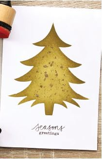 Darkroom Door - Small Stencil - Christmas Tree Set