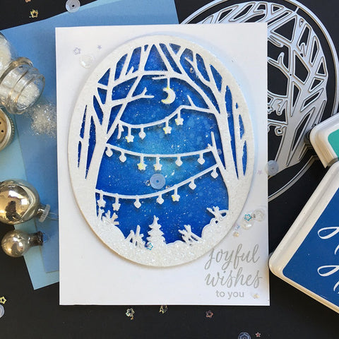 Hero Arts -  Decorated Winter Branches Window Fancy Die (E)