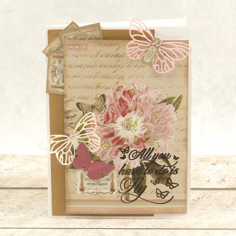 Couture Creations - Butterfly Garden - Mini Stamp - Garden Bouquet