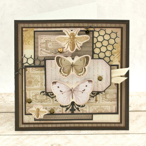 Couture Creations - Butterfly Garden - Chipboard - Beehive & Bees Set (3pc)
