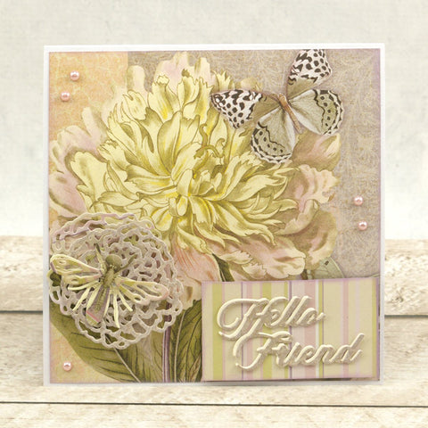 Couture Creations - Butterfly Garden - Mini Die - Hello Friend