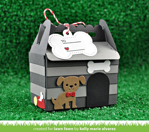 Lawn Fawn Stitched Scalloped Treat Box Dog House Add-on Dies
