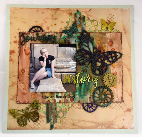 Couture Creations - Steampunk Dreams - Chipboard - History Sentiments Set