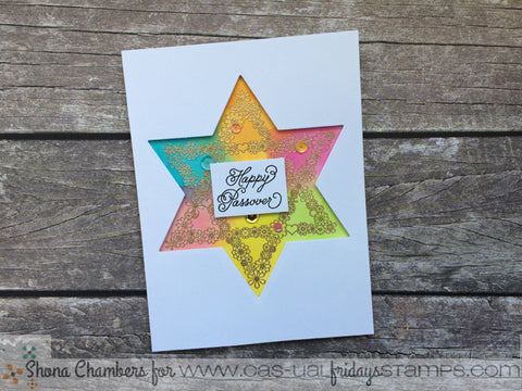 CAS-ual Fridays Stamps - Pretty Passover Stamp with Star of David Fri Dies