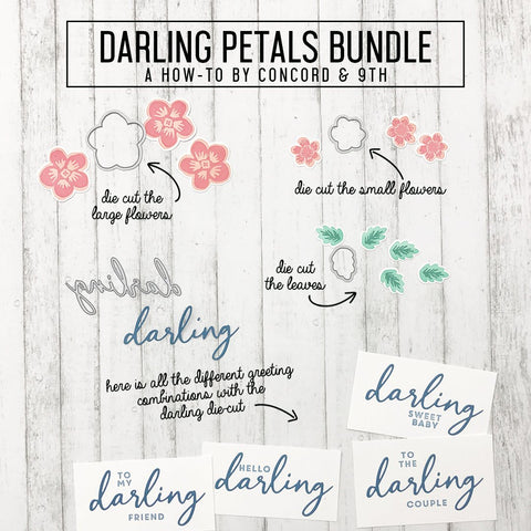Concord & 9th - DARLING PETALS TURNABOUT™ Stamp and DARLING PETALS Die Sets