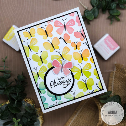 Taylored Expressions - Butterflies Stamp & Stencil Combo