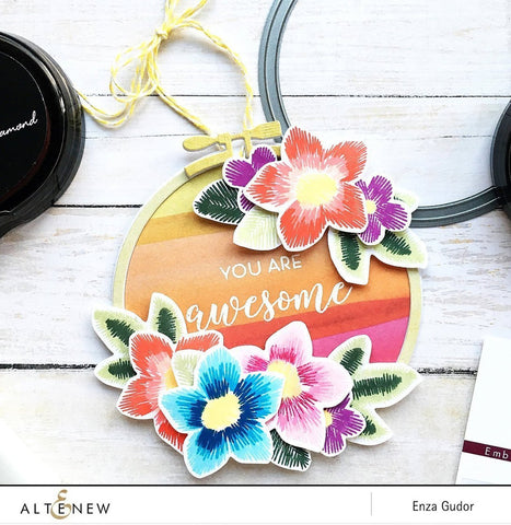 Altenew Embroidered Blooms Stamp & Die