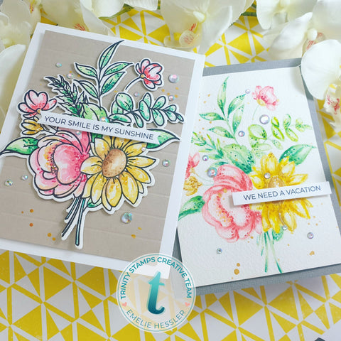 Trinity Stamps - 4x6 Blooming Bunch Stamp Set