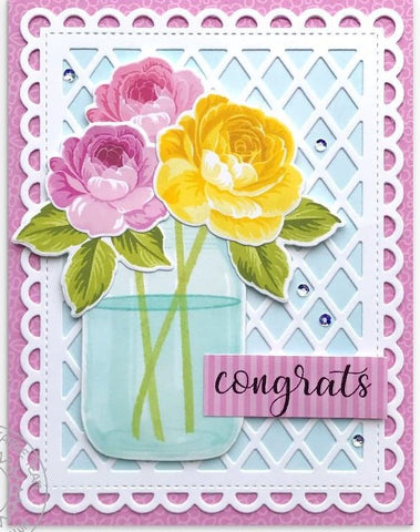 Sunny Studio Stamps - Flirty Flowers Paper