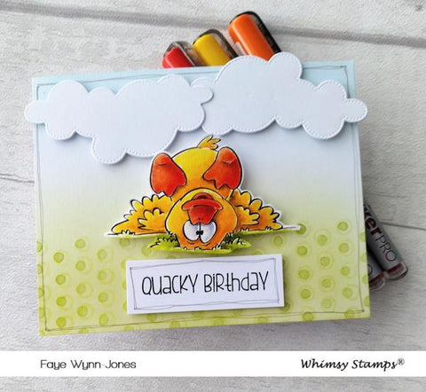 Whimsy Stamps - Lucky Ducky Clear Stamps