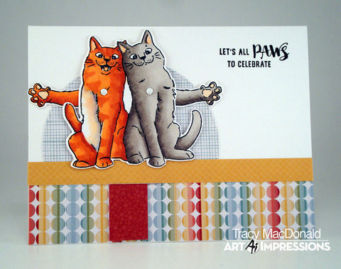 Art Impressions - Cats Flutter Stamp and Die