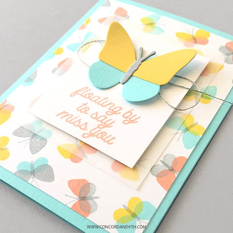 Concord & 9th - Fluttering By Turnabout Stamp Set